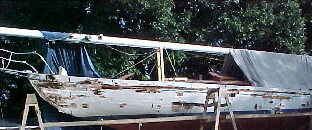Schooner MISTRESS restoration by Skip Joest.  Photo by K. Joest